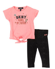 Infant & Newborn - DKNY Girls Power 2 Piece Set (Infant)-2235567