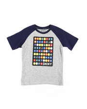Boys - Color Block Raglan Subway Train Tee (4-7)-2235750