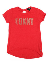 Girls - DKNY Hashtag Top (7-16)-2235635