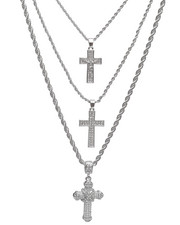Jewelry & Watches - 3 Piece Cross Necklace Set-2236008