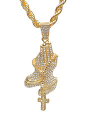 Accessories - Praying Hand Rope Chain Necklace-2235953