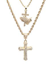 Accessories - 2 Piece Praying Hands/Cross Necklace Set-2235963