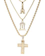 Accessories - 3 Piece Necklace Set-2236016