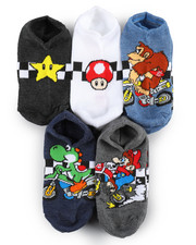 DRJ SOCK SHOP - Nintendo Mario Kart 5 Pack No Show Socks-2236495