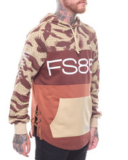 Flysociety - L/S Color Blocked Pullover Hoodie-2236815