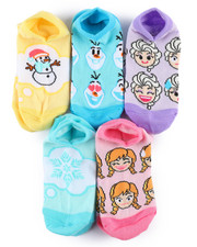 DRJ SOCK SHOP - Disney Emoji 5 Pack No Show Socks-2236494