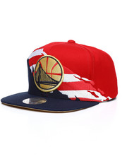 NBA, MLB, NFL Gear - Golden State Warriors Brushed Flag Snapback Hat-2236848