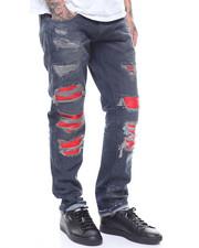 Men - Atelier LTD Embossed Snakeskin blownout Knee Jean-2237387