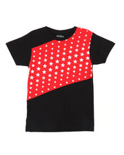 Tops - Color Block Stars Crew Neck Tee (8-20)-2236466