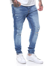 Jordan Craig - Sean Skinny Fit Blown Out Knee Stretch Jean-2237206