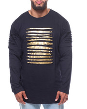 Phat Farm - Rip & Repair Metallic Printed Jersey Crew Neck (B&T)-2237424