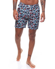 Mens-Swim - FLORAL SKULLS SHORT-2238003