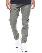 Pants - TWILL JOGGER WITH SNAP ANKLE CLOSURE-2237944