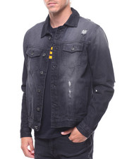 Outerwear - DENIM JACKET WITH RIPS-2238357