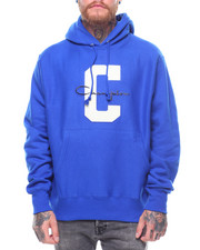 Hoodies - Reverse Weave Large C And Script Pullover Hood-2238935