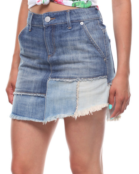 True Religion - Layered Denim Skirt