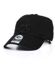 Dad Hats - Atlanta Braves Black on Black Clean Up 47 Strapback Cap-2034268