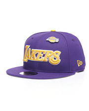 NBA, MLB, NFL Gear - 9Fifty LA Lakers Pinned Snapback Hat-2238509