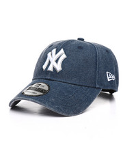 Dad Hats - 9Twenty New York Yankees Rugged Heather Strapback Cap-2238516