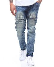 Jeans & Pants - BLUE TINT STUD DETAIL MOTO JEAN-2240005