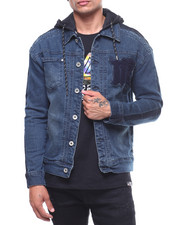MADBLUE - Denim Jacket w Detachable Hood-2239943