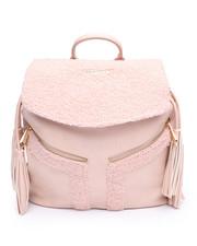 Women - Shearling Backpack w/Tassels-2239185