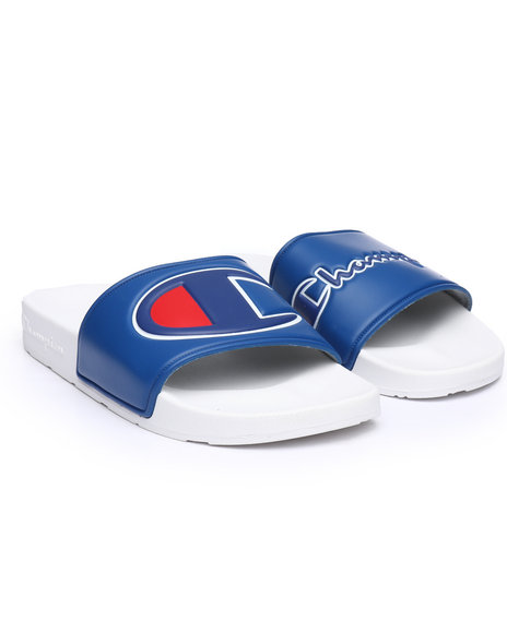 4e1ecd83d Buy IPO MM Dual Logos Slides Women s Footwear from Champion. Find ...