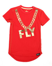 Fly Society - Gold Embossed Mirror Print Tee (4-7)-2239813