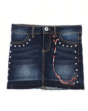 Girls - Hem And Release Denim Skirt (7-16)-2238497
