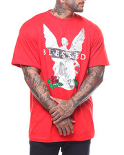 Men - S/S Blessed Print Graphic Tee (B&T)-2239697