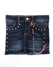 Girls - Hem And Release Denim Skirt (4-6X)-2238492