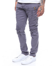 Jeans & Pants - Distressed Twill Moto Pant-2240732