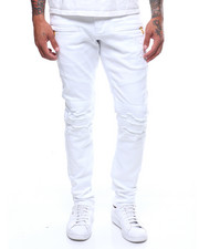 Jeans & Pants - Distressed Twill Moto Pant-2240719
