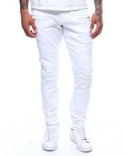 Slim - Distressed Twill Moto Pant-2240719