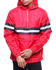 Light Jackets - Stripe Anorak Jacket w Hood-2241269