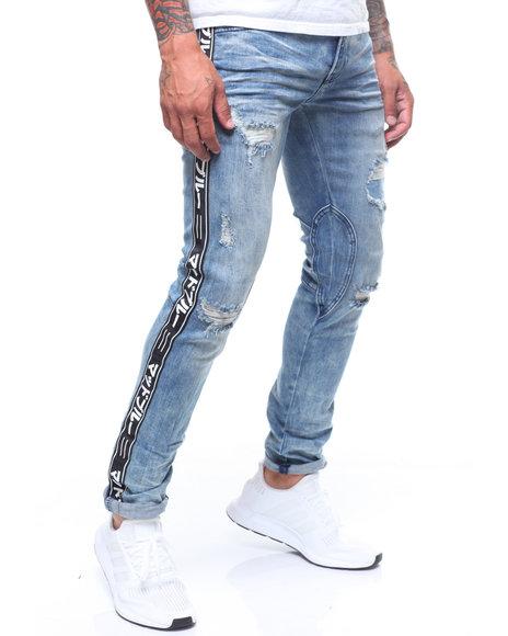 MADBLUE - Split Knee Jean w Tape
