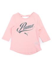 Puma - Long Sleeve Back Keyhole Fashion Top (4-6X)-2240372