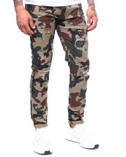 MADBLUE - Split Knee Twill Camo Pant-2239571