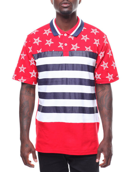 SWITCH - STARS & STRIPE POLO