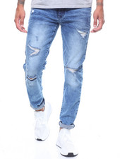 Men - Ripped Skinny Fit Stretch Jeans by WT 02-2241854