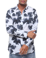 Button-downs - LS SUPERIMPOSED FLOWER BUTTONDOWN SHIRT-2242478