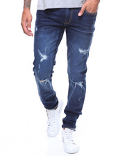Men - Ripped Skinny Fit Stretch Jeans by WT 02-2241879