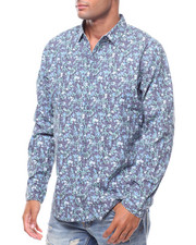 Button-downs - LS ALLOVER FLORAL PRINT SHIRT-2242439