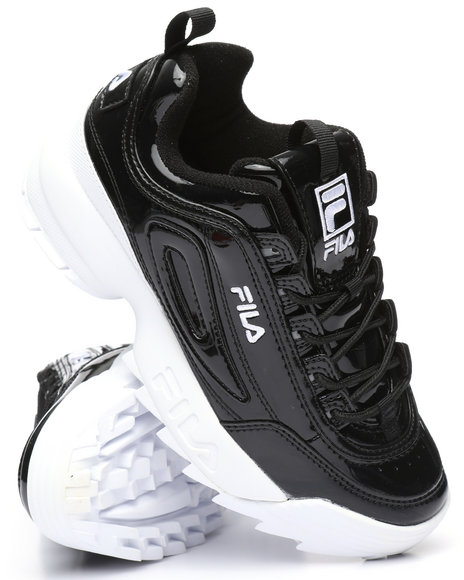 ad37111ced928 Buy Disruptor II Premium Patent Sneakers Women's Footwear from Fila ...