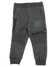 Bottoms - Marled Moto Sweatpants (2T-4T)-2240953