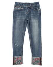 Vigoss Jeans - Ankle Skinny Raw Cuffed Hem Jeans (7-16)-2242104