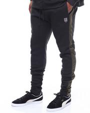 Sweatpants - Contrast Striping Fleece Joggers (B&T)-2243616
