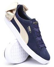 Footwear - Suede Bow Varsity Sneakers-2243361