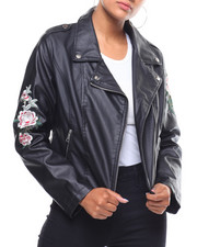 Outerwear - Faux Leather Moto Jacket-2241264