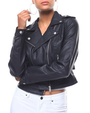 Fashion Lab - Cropped Moto Jacket-2243680